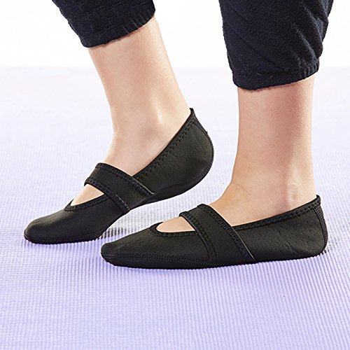 amp; Slippers Best Yoga Flats Women's Travel Slippers Exercise Nufoot House Lou Betsy Shoes Medium Black Dance Socks Foldable Slipper Flexible Black Indoor qcIBYw7BZ