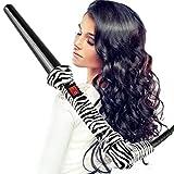 Hair Curling Wand Curler, BlueTop Ceramic Hot Tools Curling Iron Professional Hair Crimper Waver Iron(Zebra)