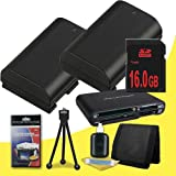 Two Canon EOS 70D DSLR Camera with 18-55mm STM f/3.5-5.6 Lens LP-E6 Lithium Ion Replacement Battery + 16GB SDHC Class 10 Memory Card + Multi Card USB Reader + Memory Card Wallet + Deluxe Starter Kit  DavisMAX Accessory Bundle