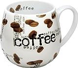 Konitz 14-Ounce Mugs Coffee Collage Snuggle Mugs, Assorted, Set of 4