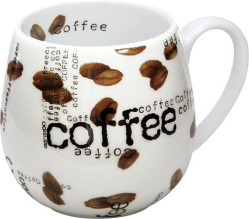 Konitz 14-Ounce Mugs Coffee Collage Snuggle Mugs, Assorted, Set of 4