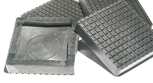 Post Lift (Auto Lift Parts - BendPak or Danmar square rubber replacement arm pads (slip on style) for 2 post lifts - set of 4)