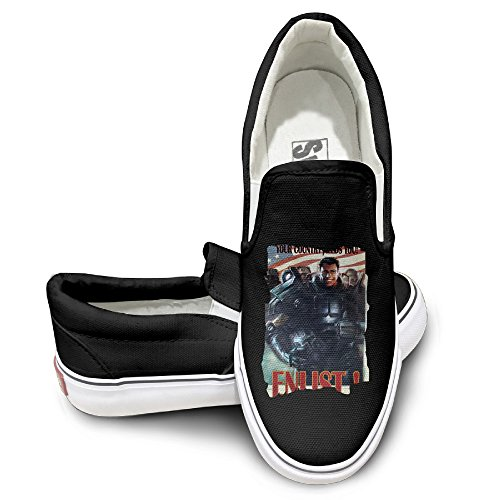 Price comparison product image CYANY FALL 4 OUT BROTHERHOOD OF STEEL ENLIST POSTER Fashion Sneakers Shoes Dancing Black