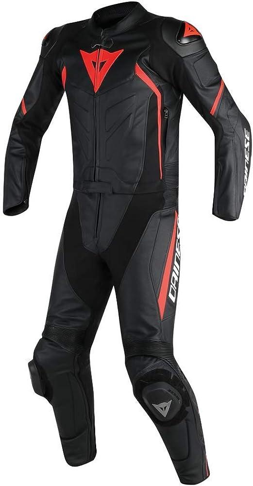 LEATHERAY - Traje de dos piezas de piel auténtica para hombre, con protección de armadura, color negro, XS-5XL