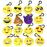 UMaster Mini Emoji Plush Pillows,Keychain Decorations,Bags Backpack Accessories,Kids Party Supplies Favors,set of 10