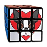 Boston Terrier Face 3x3 Smooth Speed Magic Cube Puzzles Toys Twist Brain Teasers IQ 56mm Rubik's Cube