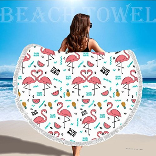 c528bcc258024 ... Blanket Circle Picnic Carpet Yoga Mat With Tassels - Flamingo. 60%OFF  TopSZ Thick Round Beach Towel Large Microfiber - Soft Water Absorbent -  Roundie