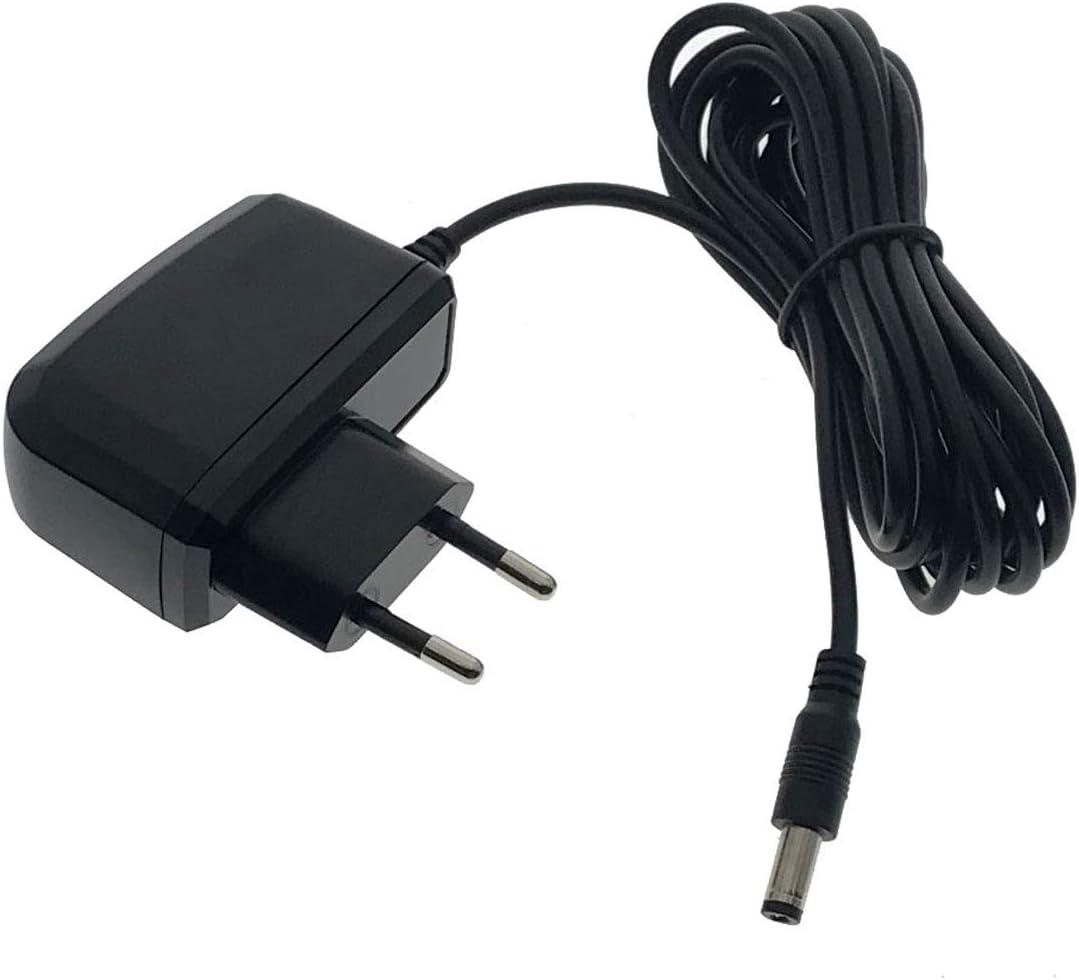 Compatible con Philips Avent Unidad Beb/és SCD510 SCD526 subtel/® Cargador 3m SCD520 SCD525 SCD536 SCD535 7.5V // 600mA SSA-5W-09EU075040F Cable de Carga Negro SCD530