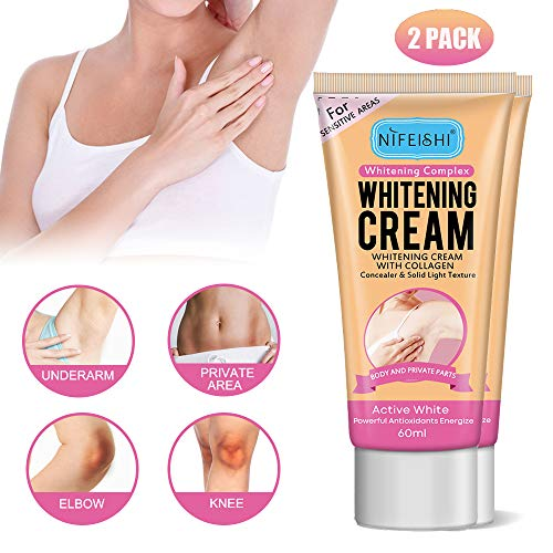 Underarm Whitening Cream, Armpit Quick White, Lightening Cream Effective for Lightening & Brightening Armpit, Knees, Elbows, Sensitive & Private Areas Bikini Line Whitens, Nourishes Skin (NIFEISHI)