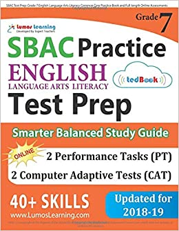 Sbac Test Prep Grade 7 English Language Arts Literacy Ela Common