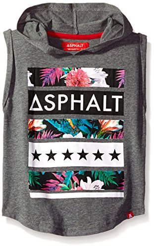 Asphalt Yacht Club Little Boys' Jungle Sleeveless Hoody Shirt, Medium Grey Heather, 5