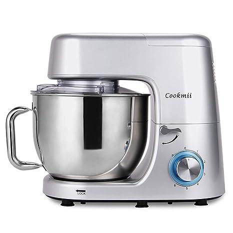 Cookmii 1800W Profesional Batidoras Amasadora Repostería, Robot de cocina Automática Multifuncional, Amasadora de Bajo Ruido para Repostería Alta ...