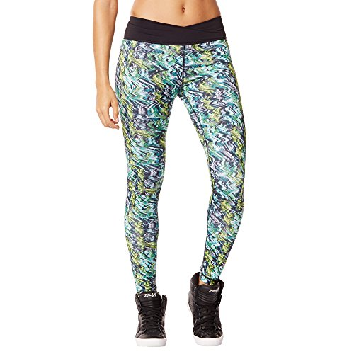 Zumba Women's Voltage Crossover Perfect Long Leggings, Caution, X-Large