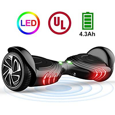 "TOMOLOO Hoverboard with LED Light Two-wheel Self Balancing Scooter with UL2272 Certified, 6.5"" Wheel Electric Scooter for Kids and Adult from TOMOLOO"
