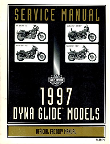 1997 Harley Davidson Dyna Glide Models Service Manual Official Factory Manual Dyna Super Glide Low Rider Covertible Wide Glide