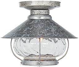 Tropical Lantern Galvanized Outdoor Fan Light Kit