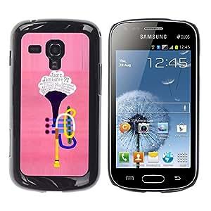 Be Good Phone Accessory // Dura Cáscara cubierta Protectora Caso Carcasa Funda de Protección para Samsung Galaxy S Duos S7562 // The trumpet