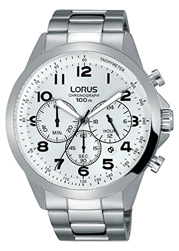 Lorus Reloj Analógico para Hombre de Cuarzo con Correa en Acero Inoxidable RT369FX9: Amazon.es: Relojes