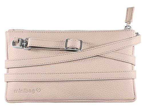 Chocolate Women Clutch Leather Minibag Nude Bag In Crossbody gdqcPY