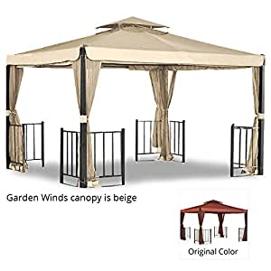 Corinth Gazebo Replacement Canopy Top Cover and Netting - RipLock 350