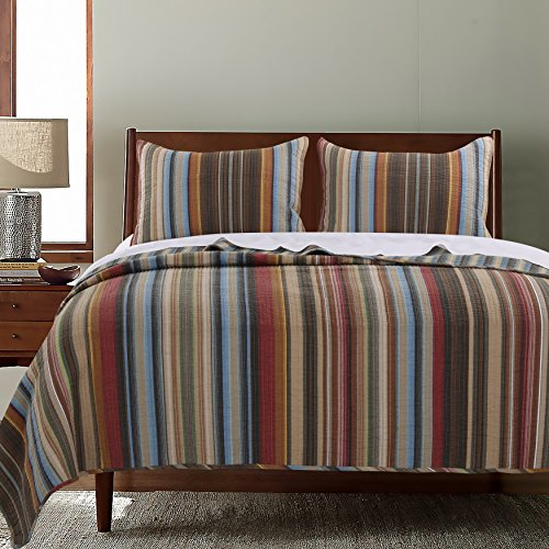 Greenland Home Durango Quilt Set, 3-Piece Full/Queen, Natural