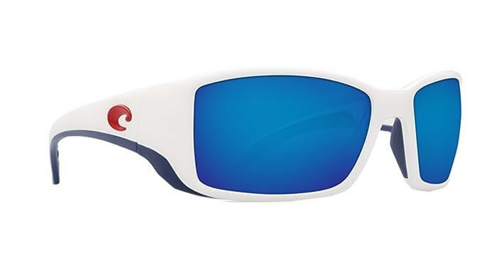 Costa del Mar bl114obmglp Blackfin – Marco Blanco Azul Rectangular polarizadas Gafas de sol