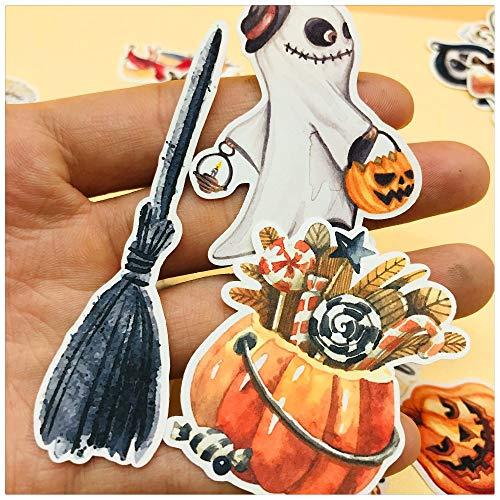 33pcs Hand Drawing Watercolor Halloween Eve Decoration Notebook Planner Scrapbooking, DIY Paper Sticker]()