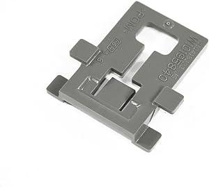 Whirlpool W10195840 Dishwasher Dishrack Adjuster Arm Positioner Clip Genuine Original Equipment Manufacturer (OEM) Part