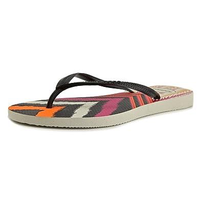 e284aa941 Havaianas Women s Slim Tribal Flip Flops White Black Sandal 35 36 Brazil (US