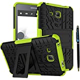 """Tab A 7 Inch Armor Case DWaybox 2in1 Combo Hybrid Rugged Heavy Duty Hard Back Case Cover with Kickstand for Samsung Galaxy Tab A 7.0 Inch 2016 SM-T280 / T285 / Samsung Tab A6 A7 7.0"""" (Green)"""