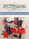 Buttons Galore and More Collection Round Novelty Buttons & Embellishments Based on Variety of Themes, Holidays and Seasons for DIY Crafts, Scrapbooking, Sewing, Cardmaking and Other Projects - 50 Pcs