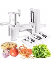 Buy (Ship form US) New Gadget 3 in 1 Slicer Julienne Cutter Spiral Vegetable Slicer Spiralizer Fruit Veggie Chopper... offer