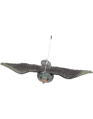 Modelo Esculturas de Pájaro Paloma Halcón de Vuelo Control Plagas Espantapájaros Scarer Trampa Adorno Jardín