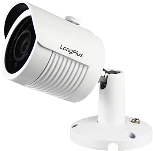 LongPlus 5MP CCTV Security Surveillance H.265 Poe, 2688×1944, 130ft Night Vision, IP66 Weatherproof, White LPIPC5MBM