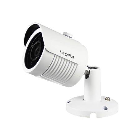 LongPlus HD-TVI 5MP 4-in-1 CCTV Home Surveillance IP66 Weatherproof IR Cut Bullet Security Camera, White LPHDC5MBM
