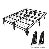 mattress brackets - Best Price Mattress 14 Inch Premium Steel Bed Frame/Platform Bed with 2 headboard Brackets Included – King