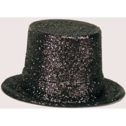 Amscan Glamorous 20s Old Hollywood Glitter Top Hat, Black, 10.5