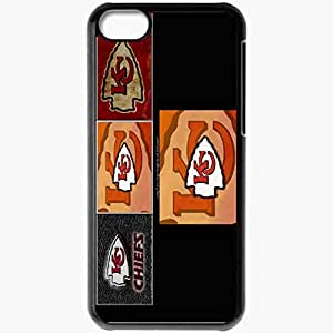 Personalized iPhone 5C Cell phone Case/Cover Skin 1075 kansas chiefs 0 Black