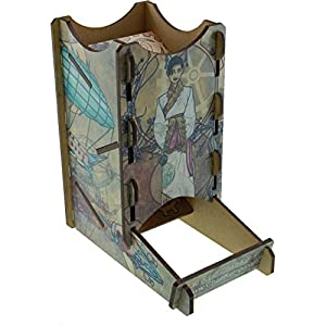 Blue Panther Knockdown Dice Tower – Steampunk