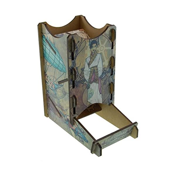 Blue Panther Knockdown Dice Tower - Steampunk 3