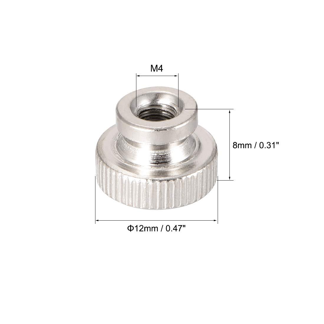 sourcing map Noix molet/ées M10 Rond boutons collier zingage 5Pcs