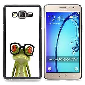 Stuss Case / Funda Carcasa protectora - Nerd Glasses rana triste Verde Blanco - Samsung Galaxy On7 O7