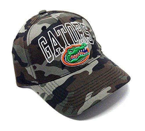 NCAA Wide Out Grey Camo Adjustable Hat (University of Florida - Gators)