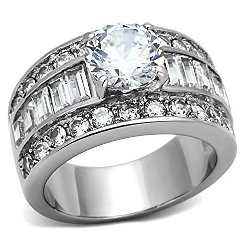 Bienna: 5.2ct Ice on Fire CZ 3 in - Fire And Ice Wedding Ring Sets