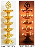 Electric Golden Diya Deepak Rice Light Bulb Lamp for Diwali Pooja Puja and hand shape LED Keychain