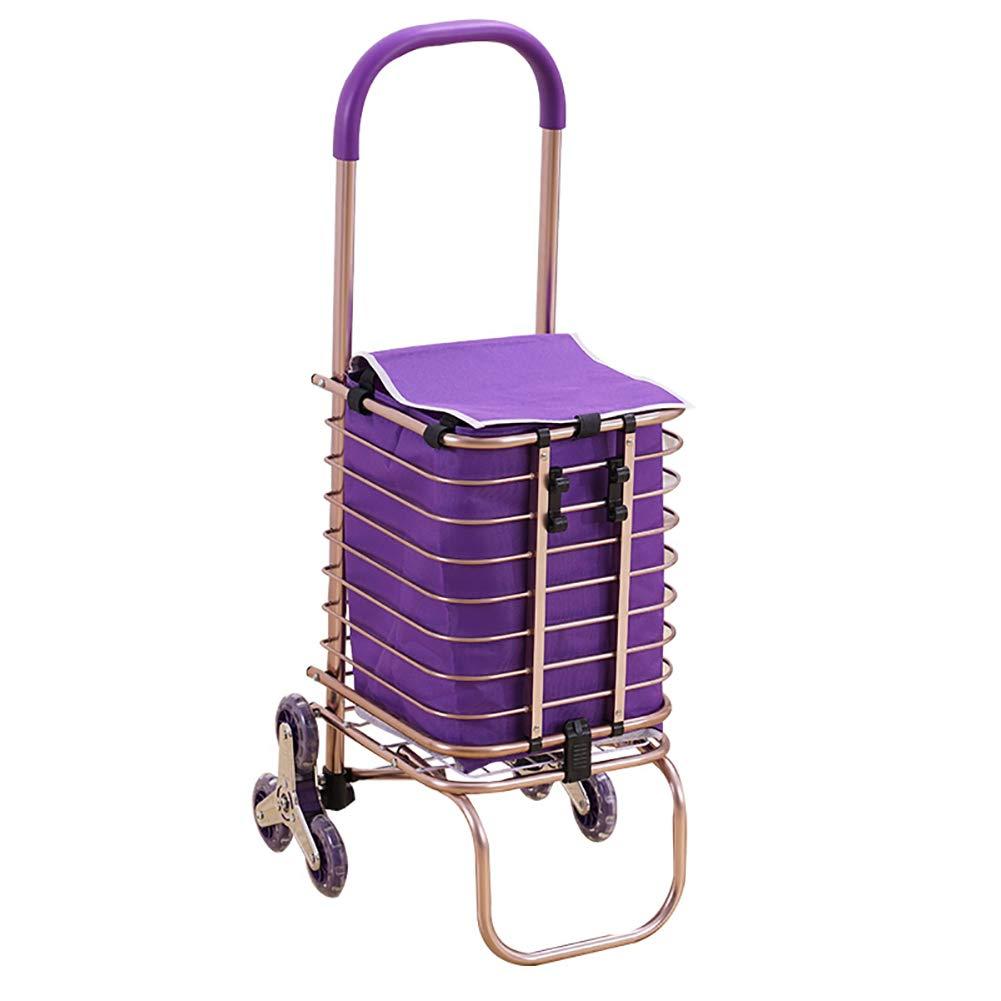 【送料無料(一部地域を除く)】 クライミングショッピングトロリーカート、静かなゴム製の車輪を持つ階段クライミングカート、アルミニウム合金材、簡単に保管するための安定した高荷重ベアリング。 B07H87Z3CK B07H87Z3CK purple(1), 印南町:e697cf31 --- arianechie.dominiotemporario.com
