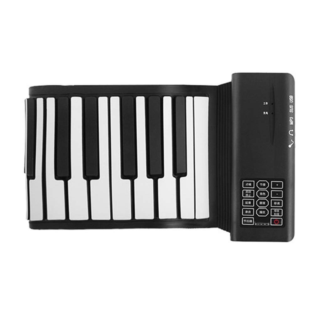 HIIMODER33 88-Keys Upgraded Portable Rechargeable Electronic Hand Roll Piano with Environmental Silicone Piano Keyboard for Beginners-Roll Up Piano, Flexible, Completely Portable by HIIMODER33