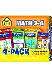 Math 3-4 Flash Card 4-Pack