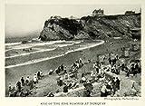 1924 Print Newquay Beach Cornwall England Coast Shore Historical Image View NGM9 - Original Halftone Print