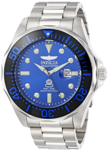 Invicta Men's 14655 Pro Diver Analog Display Swiss Quartz Silver Watch (Pro Diver Swiss)